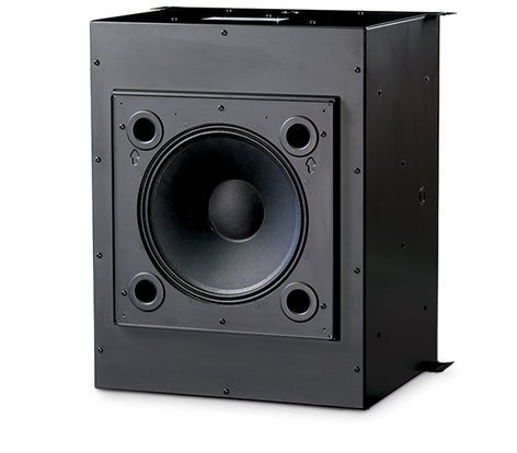 "QSC AD-C1200-BLACK  12"" High Power Ceiling Speaker Baffle with 70V Transformer AD-C1200-BLACK"