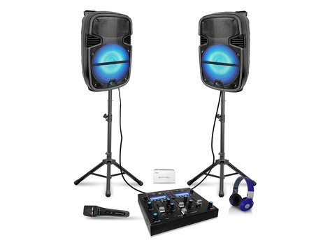 "Technical Pro DJPACK-2GO Rechargeable Dual 12"" LED DJ Speaker Package DJPACK-2GO"