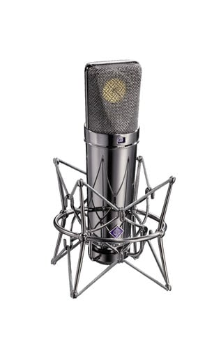 Neumann U 87 Rhodium Edition Set Limited Edition Condenser Microphone with Mount, Cable, Windscreen U87-RHODIUM-EDITION