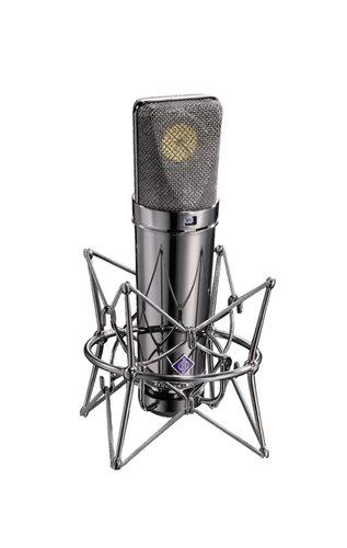 Neumann U 87 Rhodium Edition Set Limited Edition Condenser Microphone with Mount, Cable, Windscreen U87-RHODIUM-EDITION