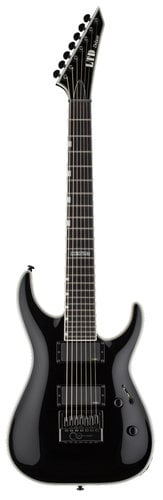 ESP Guitars LTD MH-1007 Evertune 7-String Electric Guitar, Black LMH1007ETBLK