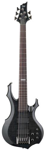ESP Guitars F-415FM 5-String Electric Bass Guitar, See-Thru Black LF415FMSTBLK