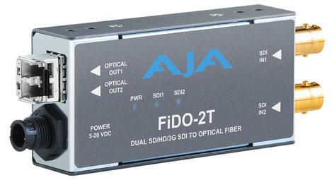 AJA Video Systems Inc FiDO-2T-MM  2-Channel 3G-SDI to Multi-Mode LC Fiber Transmitter  FiDO-2T-MM