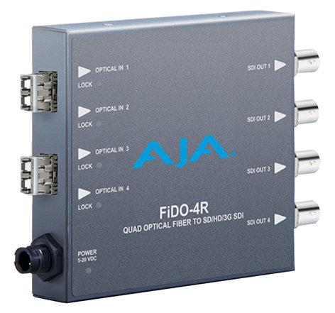 AJA Video Systems Inc FiDO-4R-MM  4-Channel Multi-Mode LC Fiber to 3G-SDI Receiver  FiDO-4R-MM