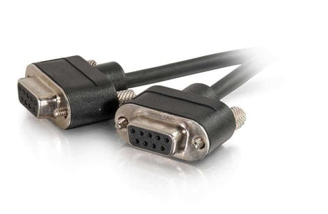 Cables To Go Serial RS-232 DB9 Cable 50 ft RS-232 Data Cable with Low Profile Connectors DB9 Female Connectors 52154