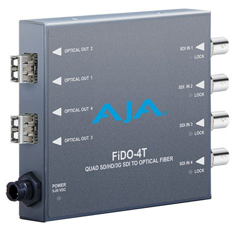 AJA Video Systems Inc FiDO-4T-MM  4-Channel 3G-SDI to Multi-Mode LC Fiber Transmitter  FiDO-4T-MM