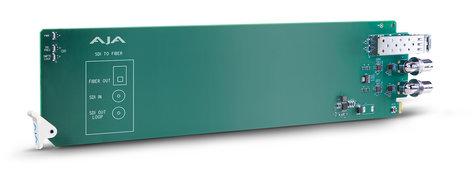AJA Video Systems Inc OG-FIBER-T-MM openGear 1-Channel 3G-SDI to Multi-Mode LC Fiber Transmitter OG-FIBER-T-MM