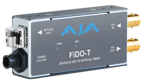 AJA FiDO-T-MM  1-Channel 3G-SDI to Multi-Mode LC Fiber Transmitter  FiDO-T-MM