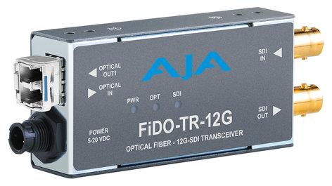 AJA Video Systems Inc FiDO-TR-12G  1-Channel 12G-SDI/LC Single-Mode LC Fiber Transceiver  FiDO-TR-12G