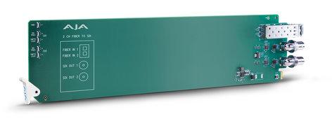 AJA Video Systems Inc OG-FIBER-2R-MM openGear 2-Channel Multi-Mode LC Fiber to 3G-SDI Receiver OG-FIBER-2R-MM