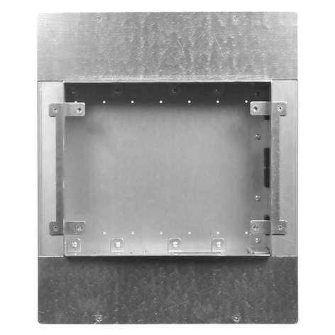 FSR, Inc PWB-450-WHT Large Format Wall Box with (4) AC Outlets, (3) 1-Gang Plates, and (1) IPS PWB450WHT