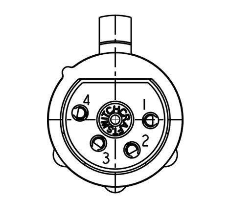 Switchcraft Qg4fd 4 Pin Xlrf Qg Insert Quick Disconnect