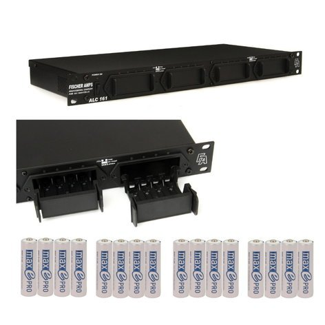 """Ansmann USA ALC 161 II [PROMO] Fischer Amps 19"""" Rackmount 16x AA/AAA Charging Station with 4 Free 4-Packs of Max E Pro AA Batteries ALC161-PROMO"""