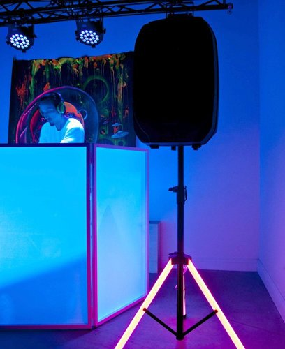 ADJ COLOR STAND LED Speaker Stand with LED Lighting and RF Remote Control COLOR-STAND-LED
