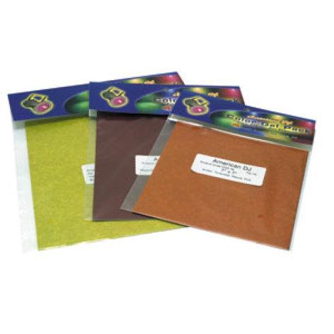 "ADJ CGS8C Gel Sheet, Pre-Cut, 8""x8"", 4 Colors (Magenta, Congo Blue, Light Green & Aqua) CGS8C"