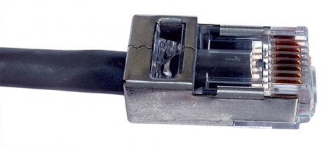 Platinum Tools EZ-RJ45 Shielded RJ45 Plug with Internal Ground for CAT5e & CAT6, Pack of 100 105020