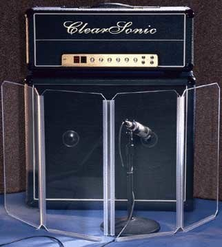 Clearsonic A1224X4 2' x 1' 4-Section Clear Acoustic Isolation Panel A1224X4