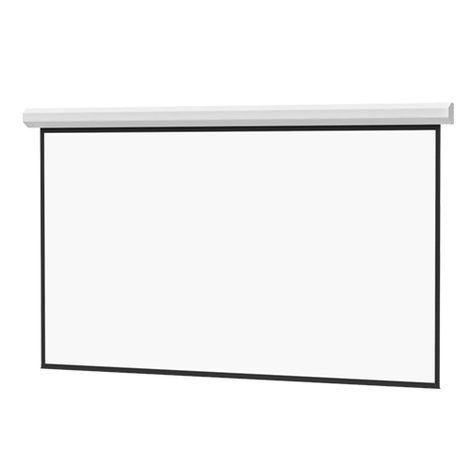 "Da-Lite Large Cosmopolitan Electrol 106"" x 188"" Projection Screen 96391-VN"