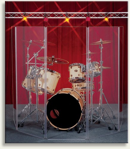 Clearsonic A2466X5 5.5' x 10' 5-Section Clear Acoustic Isolation Panel A2466X5