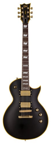 ESP Guitars LTD EC-1000 Duncan Electric Guitar, Vintage Black LEC1000VBDR
