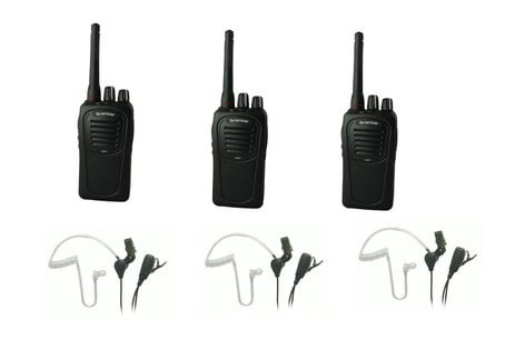 Eartec Co SSTSC3000LP Package with (3) SC-1000 Scrambler Radios and SST Mic Earbuds SSTSC3000LP
