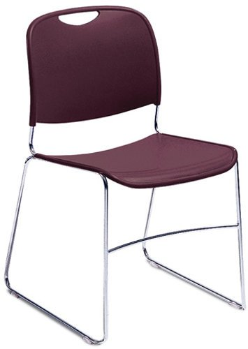 National Public Seating 8508 8500 Series Stacking Chair, Wine Finish 8508