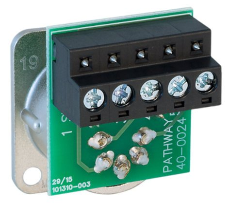 """Pathway Connectivity 40-0024 """"D"""" Series 5-Pin Male XLR Connector with Terminal Block P40-0024"""