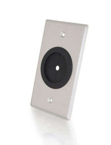 Cables To Go 40489 Single Wall Plate with Grommet 40489