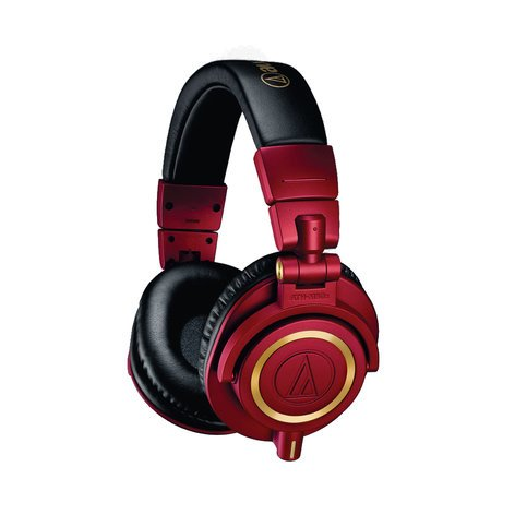 Audio-Technica ATH-M50xRD Professional Monitor Headphones - Limited Edition Red/Gold ATH-M50XRD