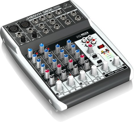 Behringer Q802USB 8 Channel 2 Bus USB Mixer Q802USB