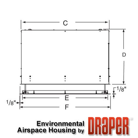 Draper Shade and Screen 300282  SL Environmental Airspace Housing  300282