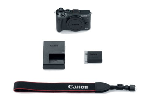Canon EOS-M6-KIT EOS M6 Kit 24.2MP M6 Camera Body in Black with Battery Pack EOS-M6-KIT