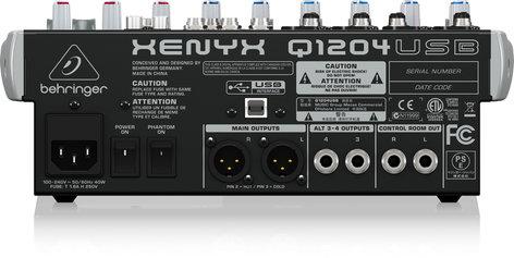 Behringer Q1204USB 12-Ch 2/2Bus USB Mixer Q1204USB