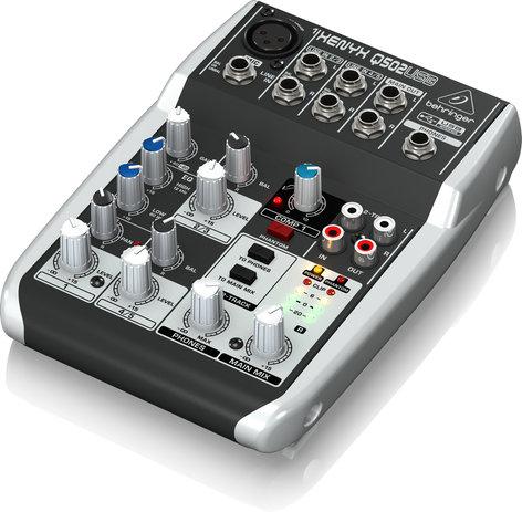 Behringer Q502USB 5-Ch 2-Bus USB Mixer Q502USB