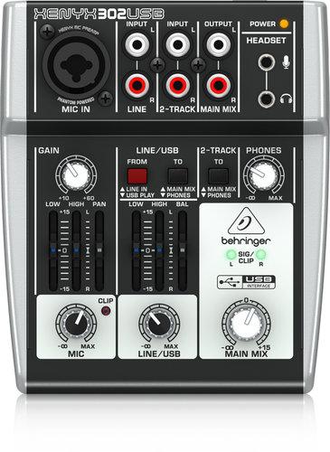 Behringer XENYX-302USB 5-Input USB/Audio Interfce Mixer XENYX-302USB