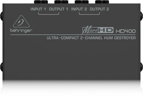 Behringer HD400-HUM-DESTROYER 2 Channel Hum Eliminator HD400-HUM-DESTROYER