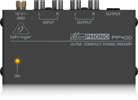 Behringer MICROPHONO PP400 Ultra Compact Phono Preamp PP400-MICROPHONO