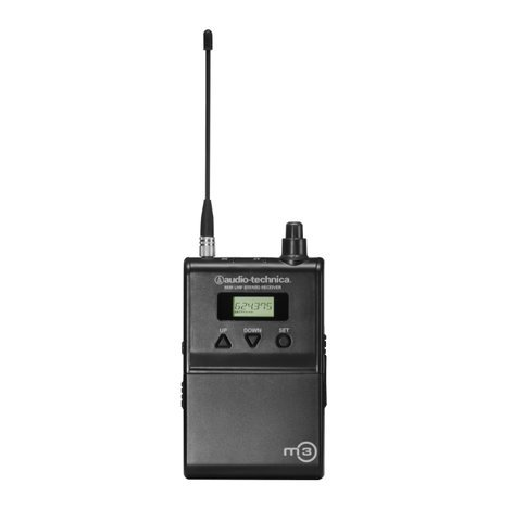 Audio-Technica M3RM Bodypack Receiver for M3M Wireless In-Ear Monitor System M3RM