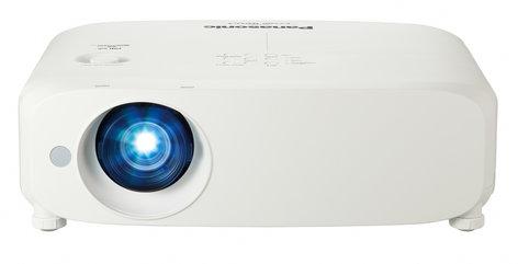 Panasonic PT-VZ580 5000 Lumen WUXGA LCD Portable Projector with 1.6x Manual Zoom in White PTVZ580