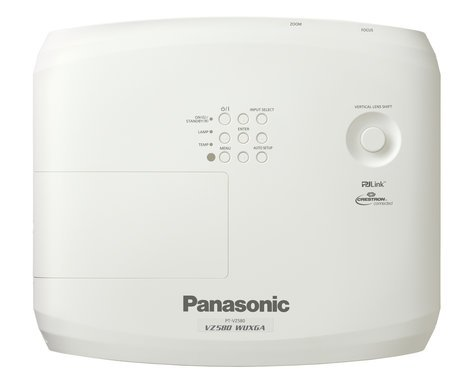 Panasonic PT-VZ580 5000 Lumen WUXGA LCD Portable Projector with 1.6x Manual Zoom in White PTVZ580