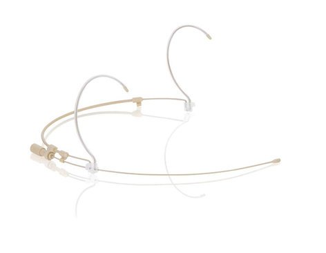 Countryman H6DW6LSL Dual-Ear H6 Directional Headset Microphone for Shure Wireless in Light Beige H6DW6L-SL