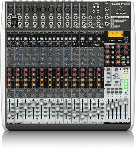 Behringer QX2442USB 24-Ch 4/2Bus USB Mixer, with Klark Teknix FX QX2442USB
