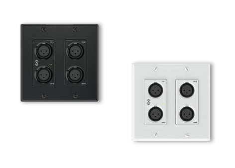 Attero Tech UNAX4I  AES67 Networked Audio Wall Plate- 4x2 Mic/Line I/O UNAX4I