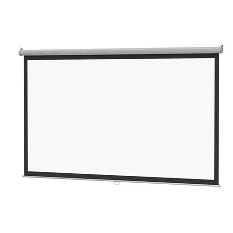 """Da-Lite 36457 57.5"""" x 92"""" Model B Projection Screen, with CSR, Matte White 36457"""