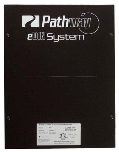 Pathway Connectivity P4813 4-Way eDIN DMX/RDM Installation Repeater P4813