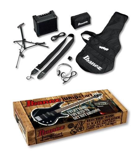 Ibanez IJXB150BBK Jumpstart Electric Bass Package with Black Electric Bass IJXB150BBK