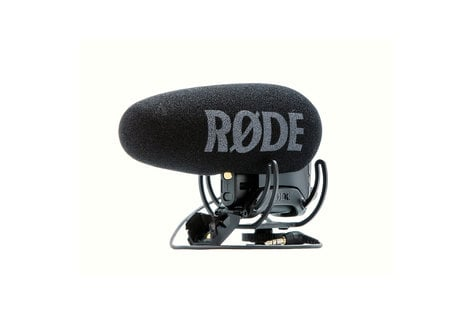 Rode VIDEOMIC-PRO-R+ VideoMic Pro+ Directional On-Camera Mic with Rycote Lyre Shockmount VIDEOMIC-PRO-R+