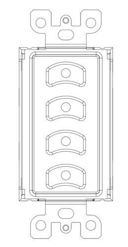 Pathway Connectivity P700-5412 Vignette PoE Four Button Master Insert P700-5412