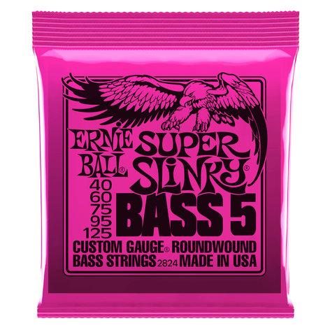 "Ernie Ball P02824 .040-.125"" Super Slinky 5-String Electric Bass Strings P02824"