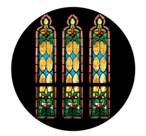 Apollo Design Technology CS-0115  Stained Glass Windows Morning ColourScenic Glass Gobo CS-0115
